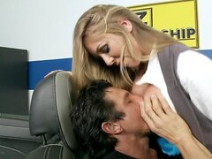 Brazzers - Busty blonde saleswoman Brynn Tyler makes a sale