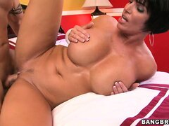 Busty MILF Shay Fox rammed doggy style on the bedroom of an hotel