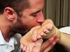 Filthy Footjob for Room Service