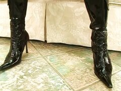hot pvc and nice boots fucked in the ass