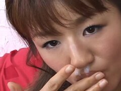 Japanese AV Model Takes a Facial Ass Fingering and Pussy Toying