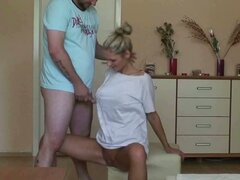 Czech blonde girlfriend gets screwed