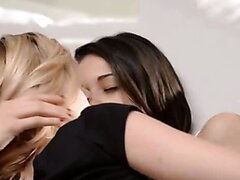 Two sexy lesbians on bed