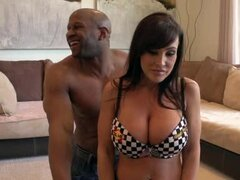 Lisa Ann sucks Prince Yahshua's BBC before taking it in her pussy