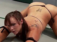 Wrestling Lesbian Brunettes With Big Asses Make You Pop A Boner