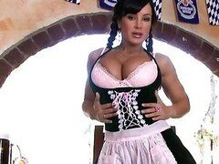 Alluring Lisa Ann is a dirty bitch when she cleans