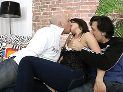 Savannah Secret looks amazing in this threesome scene.