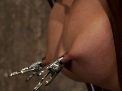 Charisma Capelli has her naughty nips clamped