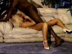 Hot blonde mature wife takes BBC and hubby cleans