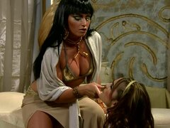 The mighty Cleopatra has great lesbian sex with her concubine