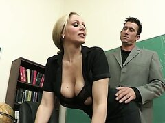 Julia Ann has fun with new teacher...