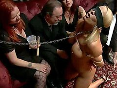 A bunch of dirty old executive guys pay some random hotties to be their sex slaves