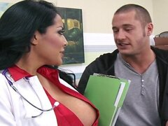 HOT & horny doctor takes a work break to ride her patient