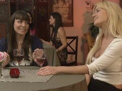 Angela Sommers gets very naught with her carpet munching friend Dana DeArmond