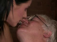 Young brunette wife gets banged by a stranger
