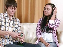 Russian couple preparing for sex