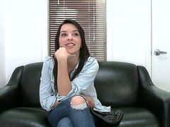 Hi boy and girls! Today we bring you young and sexy brunette Natalie Heart who is full of energy! This babe came for her first casting and she looks very happy. Enjoy.