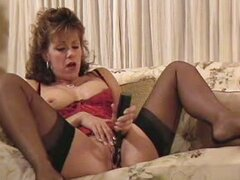 Awesome Orgasm in Black Stockings