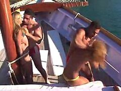 A couple of Brazilian beauties are taken advantage of on a boat and forced to fuck