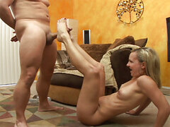 Hannah Santana is one hot looking young blonde, and she knows it! Brandon starts off by getting her to bend over slightly and show off her bubble butt. Once he's gotten enough of a view, he stuffs his cock down her throat and then gets her to give him a H