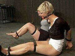 Two Cute Blonde Teens Tied Up In Sex Slave Training