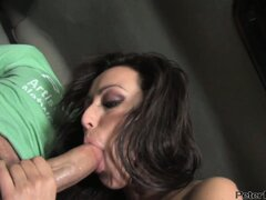 After a nice cock sucking Breanne Benson gets banged by Peter North