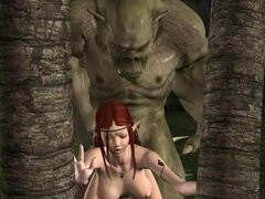 3D elf gets fucked by an ogre