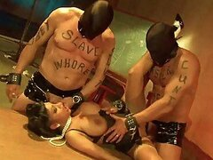 Dirty Asian Dominatrix Gets Fucked By Her Two Slaves