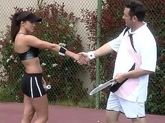 Tennis Instructor Fucks The Big Breasted Sports Babe Raquel Devine
