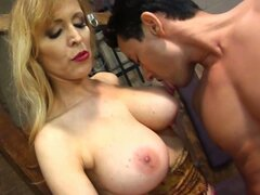 Femdom forcing cock sucking action