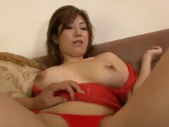 Two horny Japanese men double team big titty Naho Hadsuki's sweet pussy and mouth