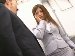 Haruki Sato Gets Fucked In Her Husband'S Office