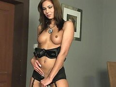 Spectacular MILF in Lingerie Fingering and Toying Her Lovely Pussy