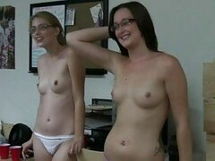 College Babes Striptease In Dorm Room