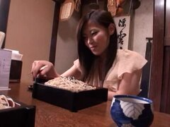 Nasty Japanese girl demonstrates her nice meaty pussy