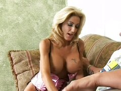 Mature blonde tube tied creampie