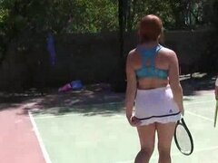Redhead tennis player fucked by coach