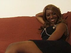 Cynthia, a black law student doing first time anal