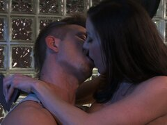 She has him licking her juicy peach before she jumps on top of him and rides his cock