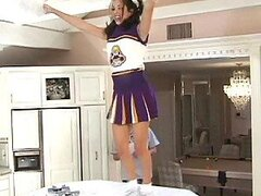 Licking and Banging A Sexy Cheerleader's Sweet Pussy