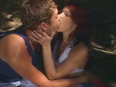 Sizzling hot threesome bisexual passion in the forest