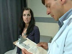 Hot Brunette Getting Anally Drilled By Her Doctor