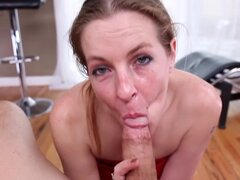 Slutty milf loves to suck cock