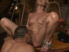 Sweet & Sexy Claudia Is Taken To The Garage For Domination