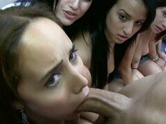 Sorority girls blowjob competition for hazeing