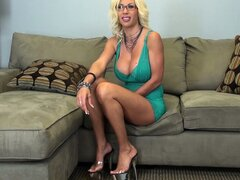 Puma Swede reveals her huge melons and gets ready to masturbate