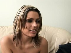 Lovely Megan will do anything to get the modeling job she is auditioning for... even fuck the producer! The producer says he will only sign the contract if she swallows his cum. Will she slurp down his man juice for the part?
