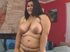 Fat girl filled up with big cock