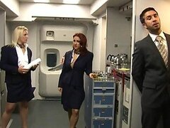 Flight Attendant Kylee Strutt Gets Smashed By Kerian Lee And His Big Cock