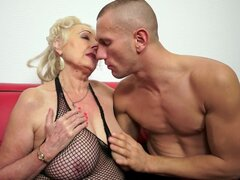 Aged doll Sila is satisfying her young and muscular fucker